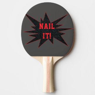 SPIJKER HET! De grappige het Breken Peddel van de Tafeltennis Bat
