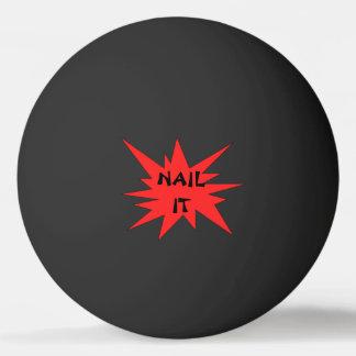 SPIJKER HET! De grappige Zwarte en Rode Bal van de Pingpongbal