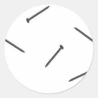 spijker patroon ronde sticker
