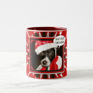 Spiked Hond van de Eierpunch Tweekleurige Koffiemok
