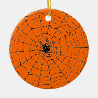 Spin in Web Rond Keramisch Ornament