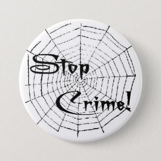Spinneweb Ronde Button 7,6 Cm