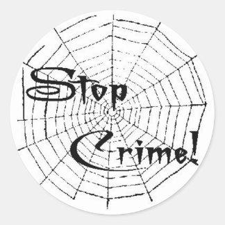 Spinneweb Ronde Sticker