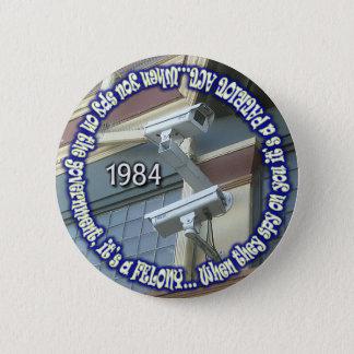 spion-op-de-overheid ronde button 5,7 cm