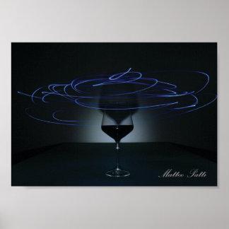 Spiraalvormig Glas Poster