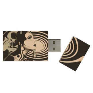 Spiraalvormig USB, 8gb, Rechthoek Houten USB Stick