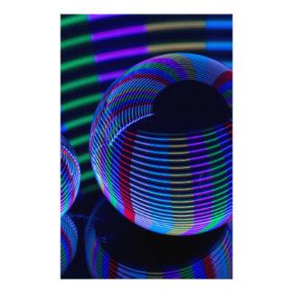 Spiraalvormige Lichten in het Kristal Briefpapier