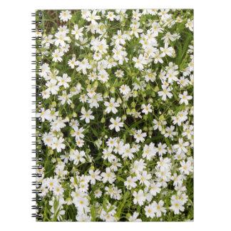 Spiraalvormige Notitieboekje van de Bloemen van Notitieboek