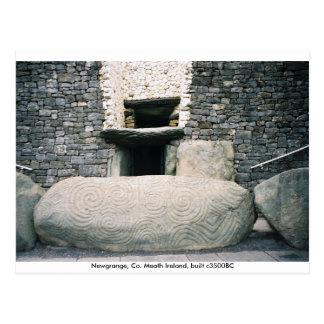 Spiraalvormige symbolenkerbstone, Newgrange, Briefkaart