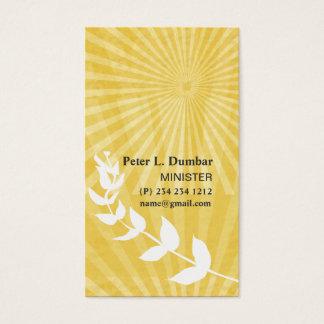 Spirituele Gouden Godsdienstige Zonsopgang Visitekaartjes