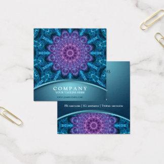 Spirituele paarse bloem, zee van blauw vierkante visitekaartjes