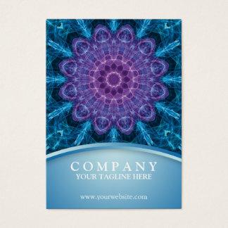 Spirituele paarse bloem, zee van blauw visitekaartjes