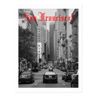 spitsuur in San Francisco Briefkaart
