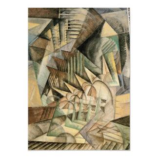Spitsuur, New York door Max Weber, Vintage Kubisme 12,7x17,8 Uitnodiging Kaart