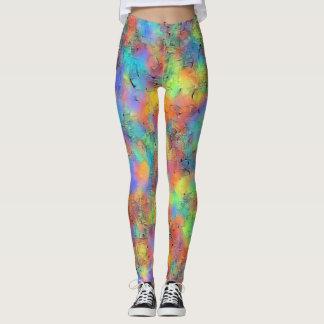 Splashy regenboog kleurrijke beenkappen leggings