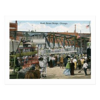 Spoed St. Brug, de Wijnoogst van Chicago, Illinois Briefkaart