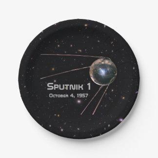 Spoetnik 1 Satelliet Papieren Bordje