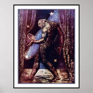 Spook van een Vlo door William Blake Poster