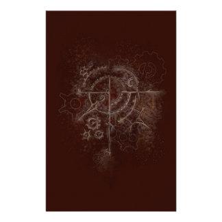 Spookachtig Motief SteamPunk Briefpapier