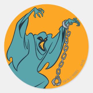 SpookSchurken 01 van Technicolor Ronde Sticker