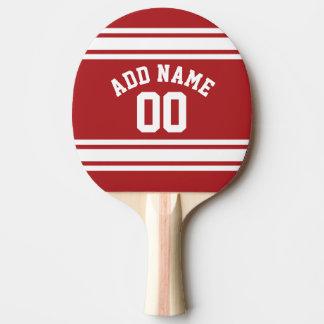 Sporten Jersey met Uw Naam en Aantal Tafeltennis Bat