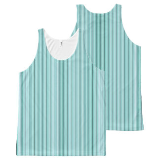 Sportief-blauw-streep-casual-vrouw-tank-bovenkant All-Over-Print Tank Top