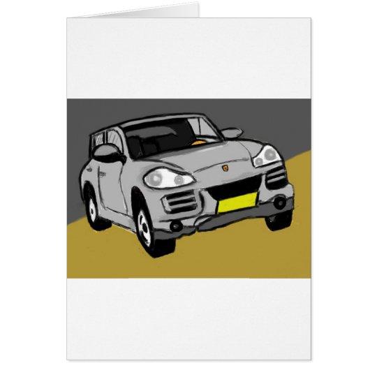 sportive SUV Briefkaarten 0