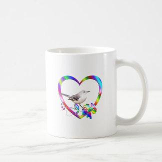 Spotlijster in Kleurrijk Hart Koffiemok