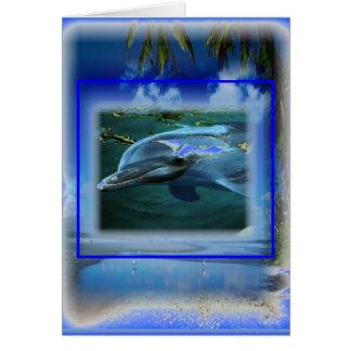 Spreek Thy Keel Chakra van de Dolfijn van de Vrede Kaart