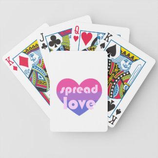 Spreid Biseksuele Liefde uit Bicycle Speelkaarten