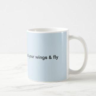 Spreid uw vleugels uit en vlieg koffiemok
