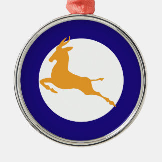Springbok Zilverkleurig Rond Ornament