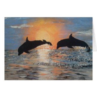 Springende Dolfijnen Notitiekaart