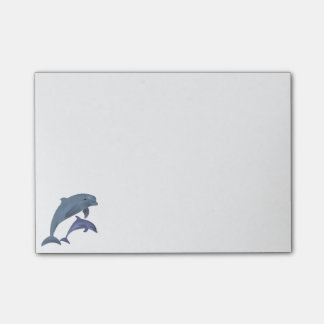Springende dolfijnenillustratie post-it® notes