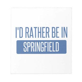 Springfield OF Notitieblok