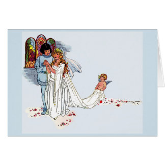 sprookje huwelijk wenskaart