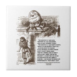 Sprookjesland Alice Humpty Dumpty Conversation Quo Keramisch Tegeltje