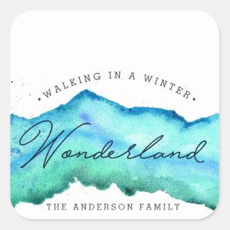 Sprookjesland | van de winter de Foto van de Vierkante Sticker