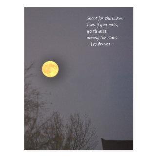 Spruit voor de maan briefkaart