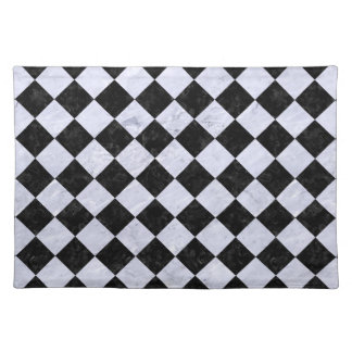 SQUARE2 ZWART MARMEREN & WIT MARMER PLACEMAT