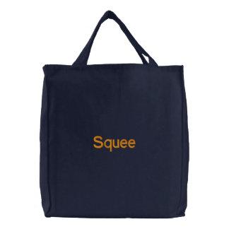 Squee Geborduurd Canvas tas