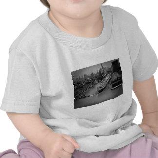SS Verenigde Staten bij Pijler in de Stad van New  T-shirt
