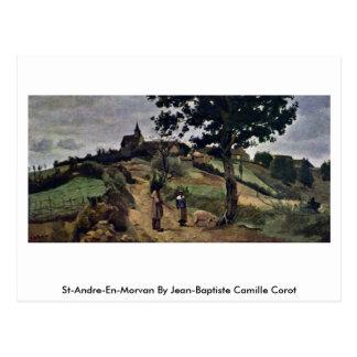 St-Andre-Engels-Morvan door Jean-Baptiste Camille Briefkaart