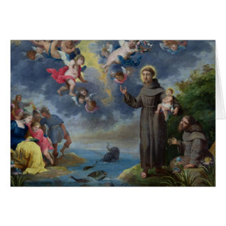 St. Anthony die van Padua aan de Vissen prediken Wenskaart