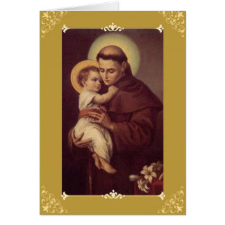 St. Anthony Greeting/de Kaart w/prayer van de Nota