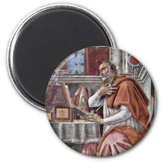 St. Augustine in Contemplatief Gebed door Sandro Magneet