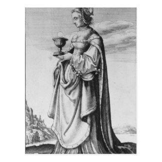 St. Barbara, etste door Wenceslaus Hollar, 1647 Briefkaart