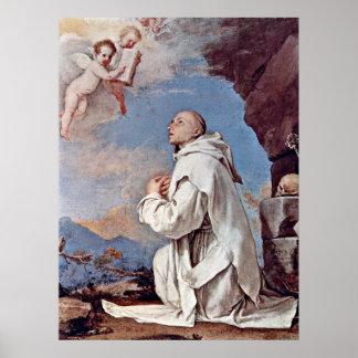 St. Bruno Kartuizer door Jusepe DE Ribera Poster