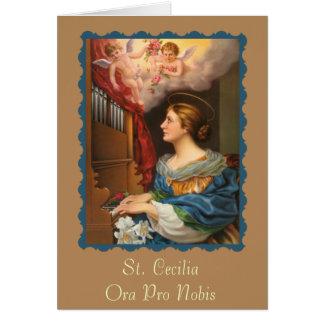 St. Cecilia Patroness van Musici Briefkaarten 0