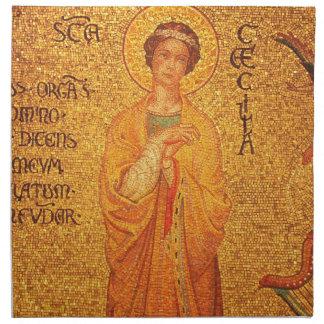 St Cecilia, Patroonheilige van Musici, servetten